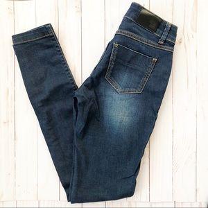Anine Bing Dark Denim Skinny Jeans